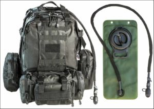 MOLLE pack with a hydration bladder
