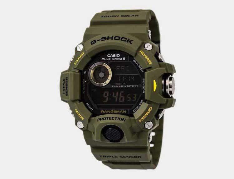 1. Best Overall – Casio G Shock Rangeman GW9400 3CR