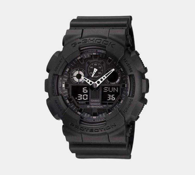 5. Casio G Shock GA 100 1A1 Military Series Best Analog Display