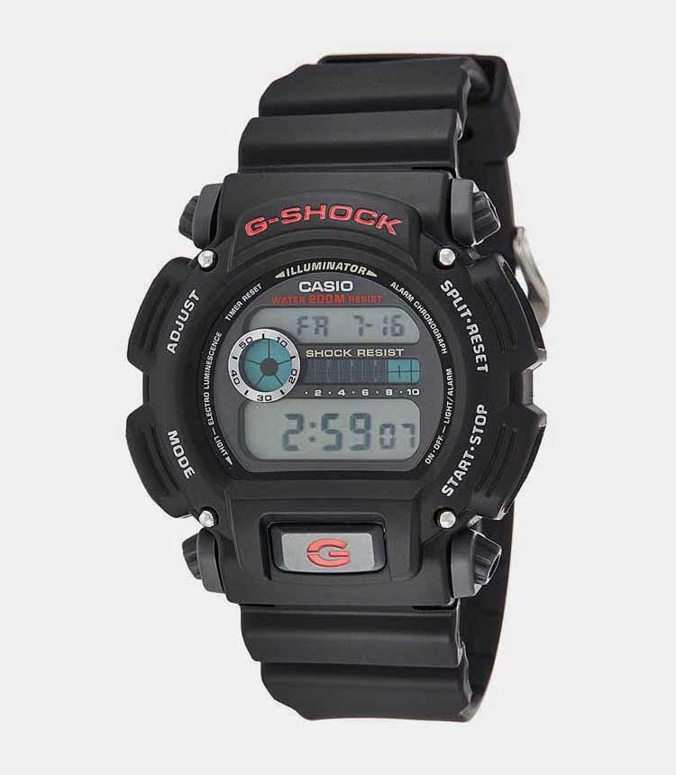 9. Casio G Shock DW 9052 1CCG Military Black Budget Pick