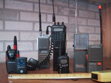 Picture of MURS Radios lined up