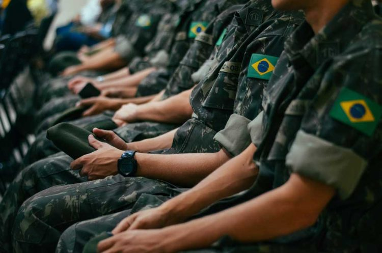 Soldiers wearing G-Shocks in the military