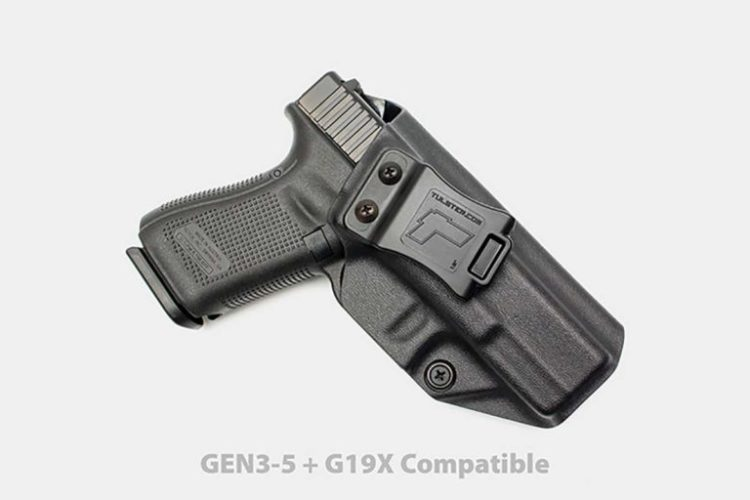 1. Tulster Glock IWB Holster Best Concealed Carry Kydex IWB G19 Holster 1