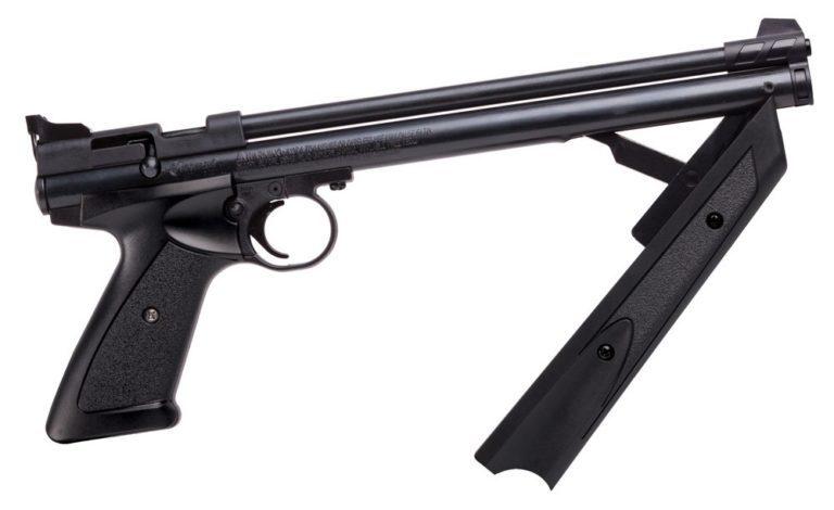 Crosman P1322 American Classic Multi Pump Pneumatic .22 Caliber Pellet Air Pistol Black
