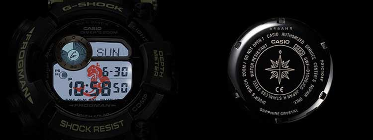 G Shock GWF D1000JCG Anniversary Edition Backlight Case Back 1