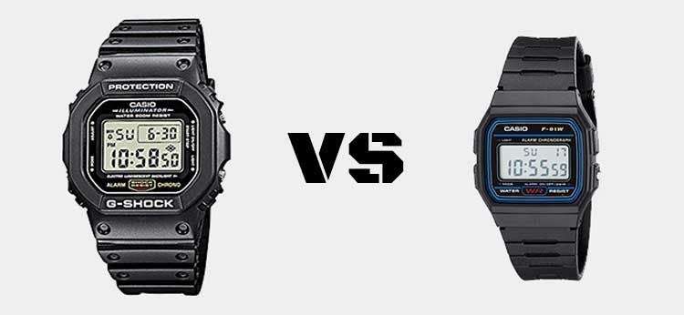 G Shock vs Casio 1