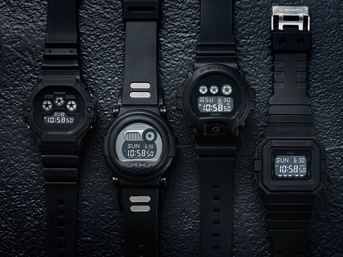 All Black Casio G Shock WAtches Black Out