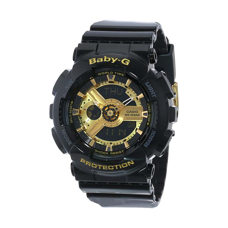 Baby-G BA-110-1ACR Black And Gold