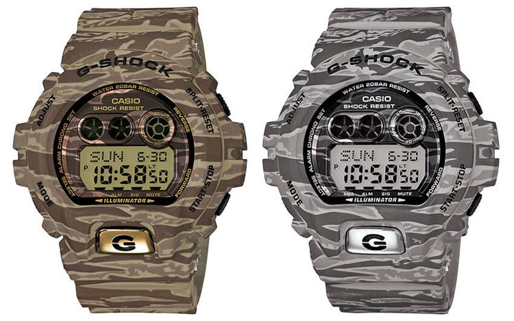 Casio G-Shock GD-X6900TC Camouflage Tiger Series Beige And Gray