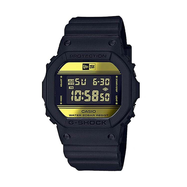 G-Shock DW5600 New Era Black And Gold (Limited Edition)