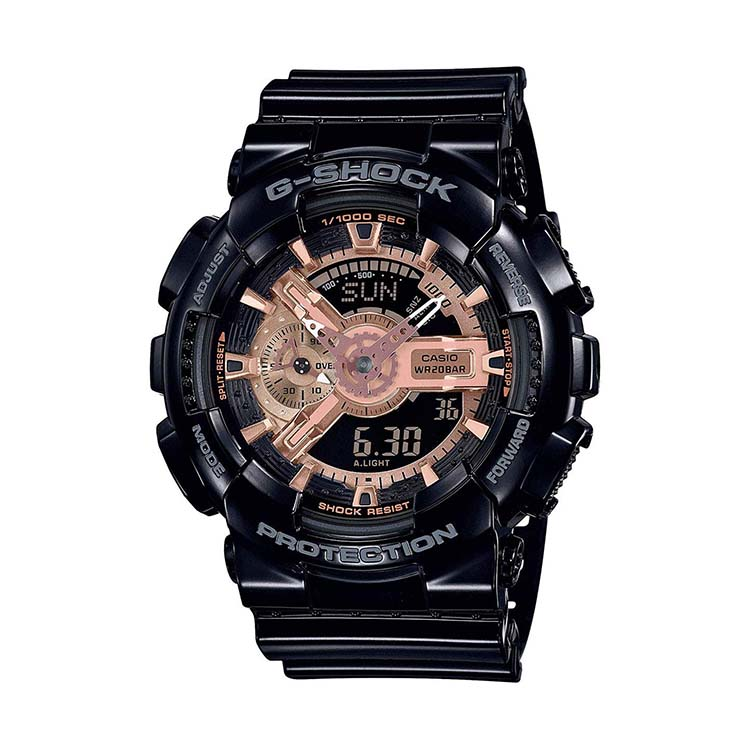 G-Shock GA-110MMC-1A Black and Rose Gold Series