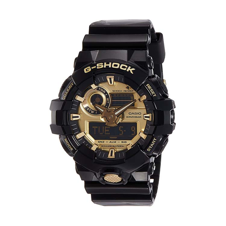G Shock GA710GB-1A Black And Gold