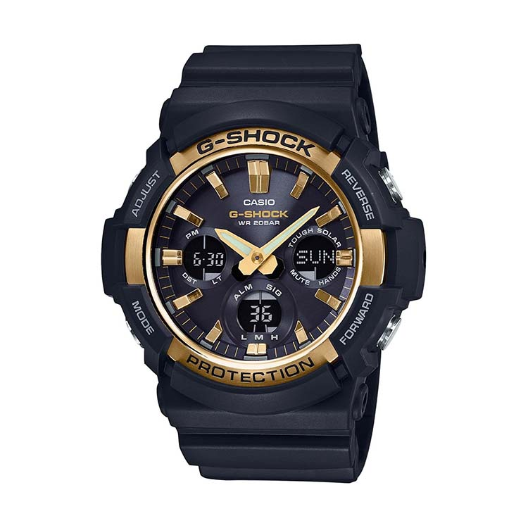 G-Shock GAS100G-1A Black And Gold
