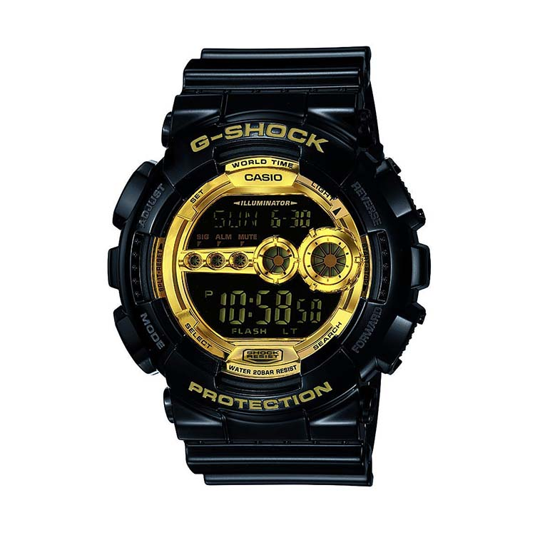 G-Shock GD 100 Black And Gold