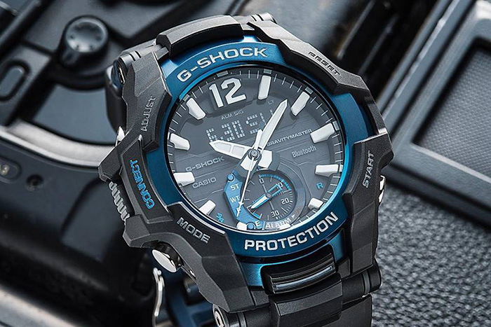 Black and Blue Casio G Shock Watches
