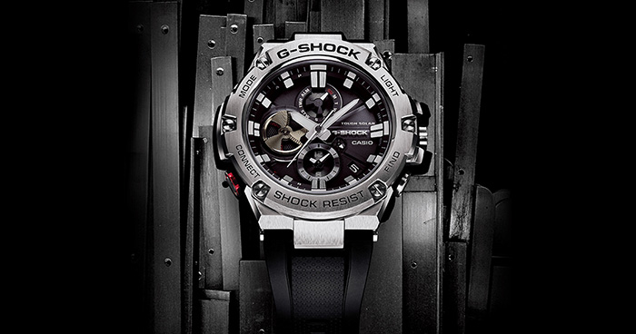 Black and Silver G Shock watches