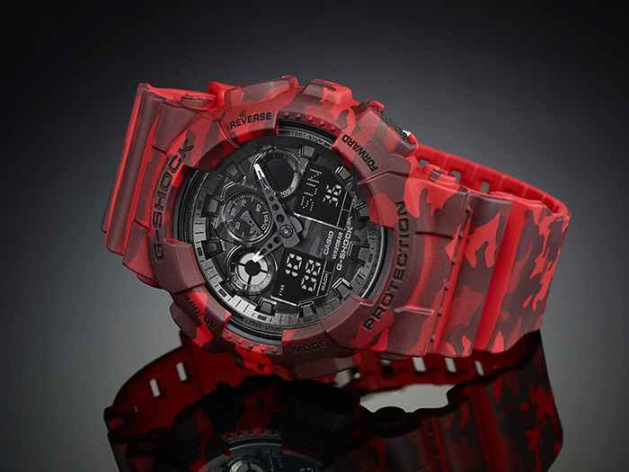 Black and red casio g shock watches