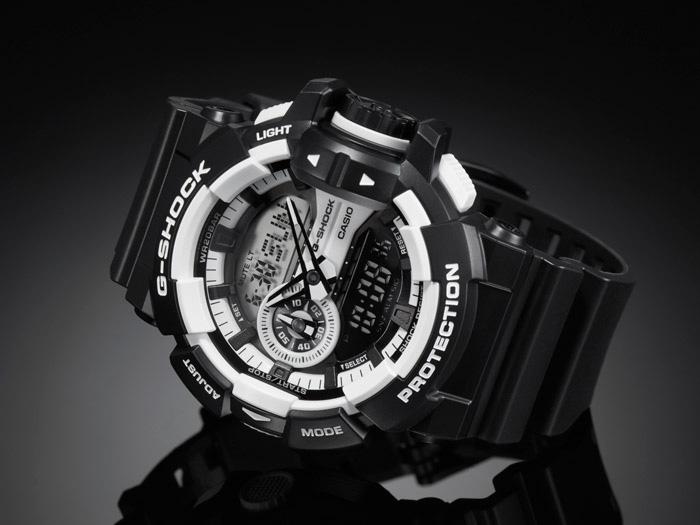 Black and white casio g shock watches