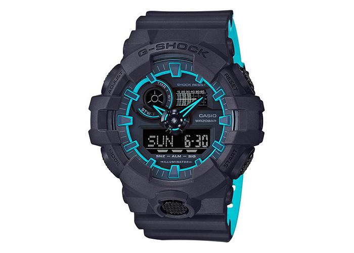 Casio G-SHOCK GA700SE-1A2 Black & Blue