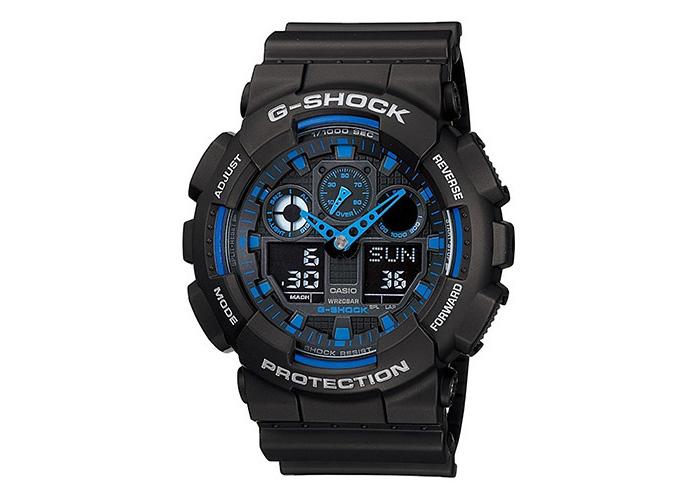 Casio G-Shock GA100-1A2 Black & Blue