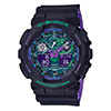 Casio G-Shock GA100BL-1A Black and Purple
