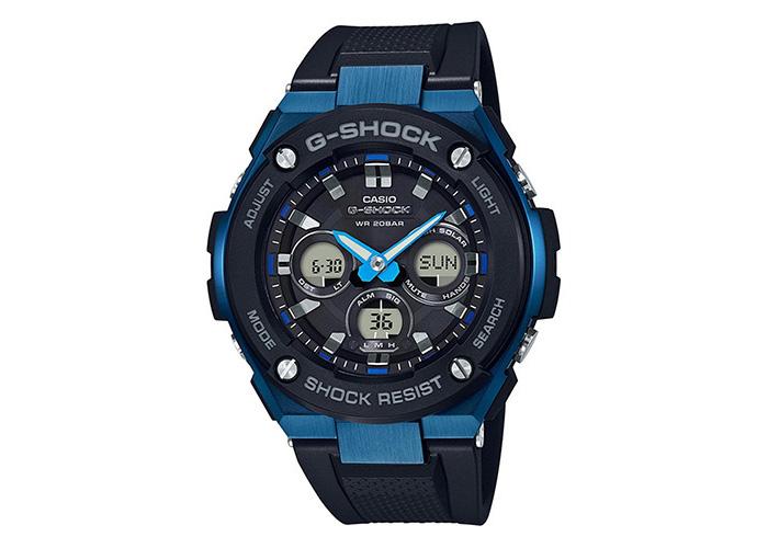 Casio G-Shock GSTS300G-1A2 G-Steel Black & Blue