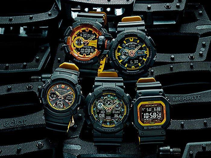 G Shock Black And Yellow