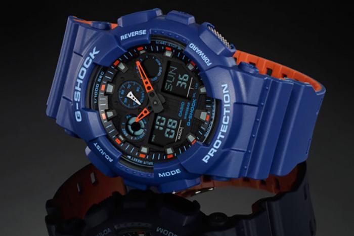 G Shock Blue And Orange