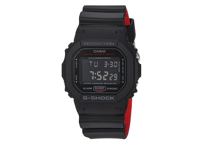 G Shock DW-5600HR-1CR Black & Red Strap