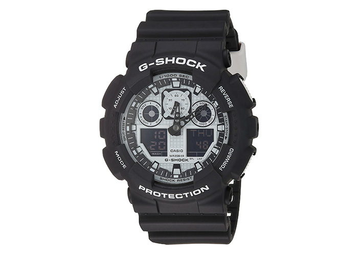 G-Shock GA-100BW-1A Silver and Black Series