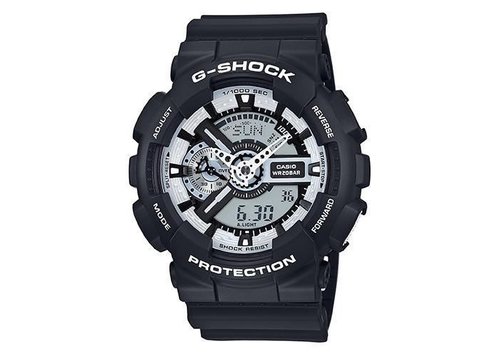 G-Shock GA-110BW-1ACR Black White Accents