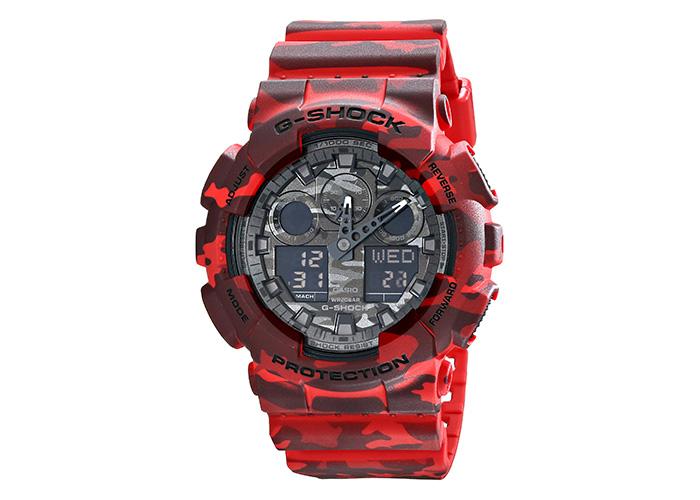 G-Shock GA100CM-4A Red Camo
