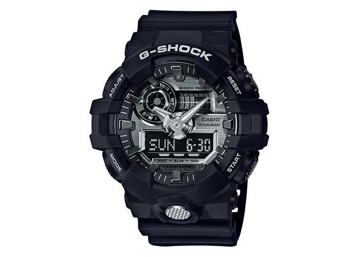 G-Shock GA710-1A Black and Silver-Tone