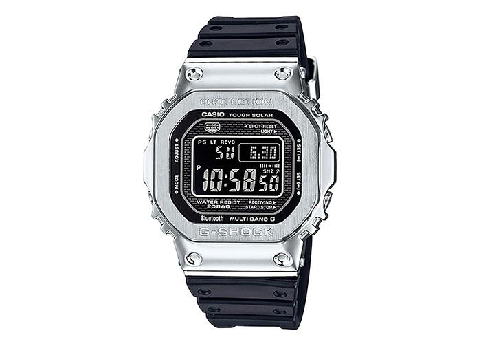 G-Shock GMW-B5000-1CR Black Silver Square