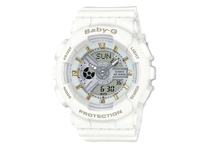 G-Shock BA110GA-7A1 White & Gold