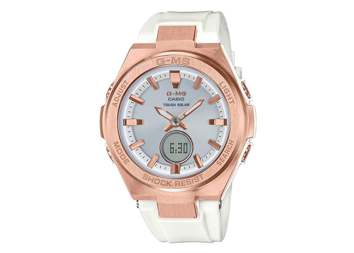 G-Shock Baby-G MSGS200G-7A White and Rose-Gold