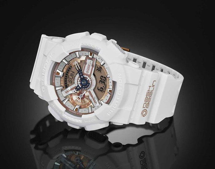 G Shock White And Gold Watches